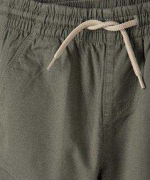 Pantalon garçon avec taille et chevilles élastiquées vue3 - GEMO (ENFANT) - GEMO