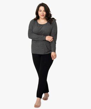 Pantalon de pyjama femme resserré dans le bas  vue5 - GEMO(HOMWR FEM) - GEMO