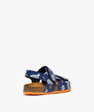 Sandales garçon imprimées à brides scratch vue4 - Nikesneakers (ENFANT) - Nikesneakers
