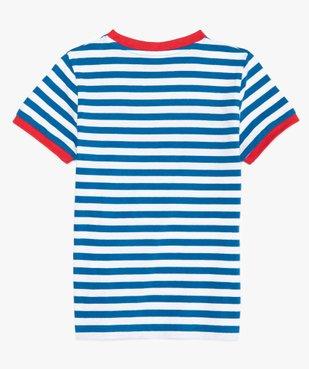 Tee-shirt garçon à rayures et inscriptions – Lulu Castagnette vue4 - LULUCASTAGNETTE - GEMO
