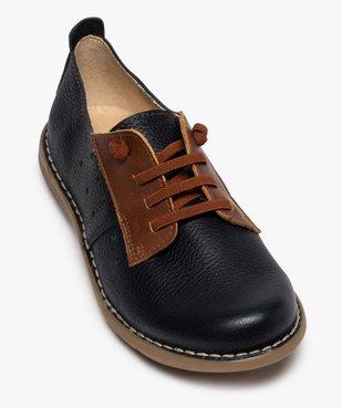Derbies femme confort bicolores à lacets élastiques vue5 - Nikesneakers (CASUAL) - Nikesneakers