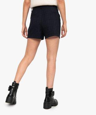 Short femme à taille haute et carreaux vue3 - GEMO(FEMME PAP) - GEMO