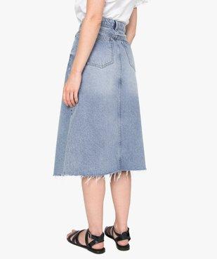 Jupe femme en jean longueur mollets – Lulu Castagnette vue3 - LULUCASTAGNETTE - GEMO