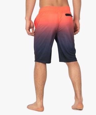 Short de bain homme multicolore dégradé vue3 - GEMO (PLAGE) - GEMO