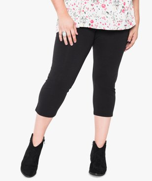 Legging femme uni longueur 7/8e vue1 - GEMO (G TAILLE) - GEMO
