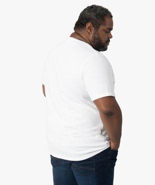 Tee-shirt homme à manches courtes à rayures texturées vue3 - GEMO (G TAILLE) - GEMO