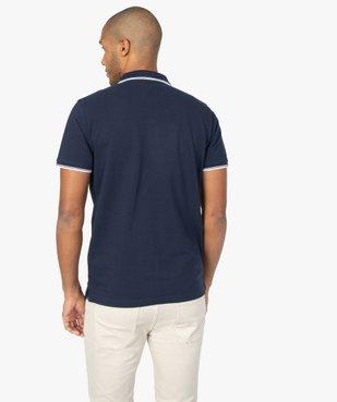 Polo homme à manches courtes 100% coton bio vue3 - GEMO (HOMME) - GEMO