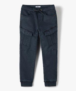 Pantalon garçon multipoches avec taille élastiquée vue2 - GEMO (ENFANT) - GEMO