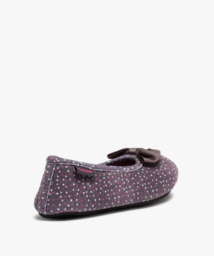 Chaussons femme forme ballerine à pois - Isotoner vue4 - ISOTONER - Nikesneakers