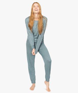 Haut de pyjama femme à manches chauve-souris vue5 - GEMO(HOMWR FEM) - GEMO
