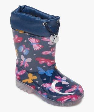 Bottes de pluie fille avec motifs papillon et col ajustable vue5 - GEMO (ENFANT) - GEMO