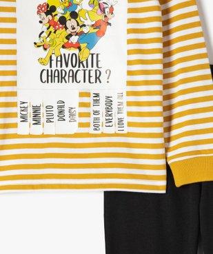 Pyjama garçon bicolore avec motifs XXL - Disney vue2 - DISNEY DTR - GEMO