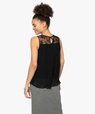 Chemise femme plissée sans manches avec dentelle vue3 - GEMO(FEMME PAP) - GEMO