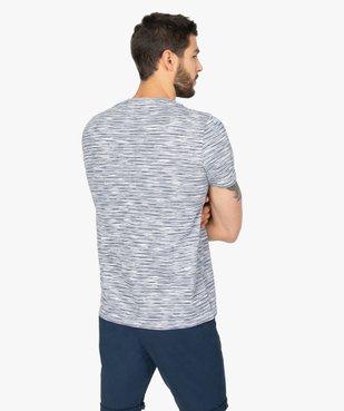 Tee-shirt homme à manches courtes et rayures vue3 - GEMO (HOMME) - GEMO