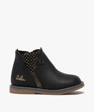 Boots bébé fille zippées à détails pailletés – Lulu Castagnette vue1 - LULU CASTAGNETT - GEMO