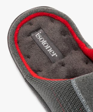 Chaussons homme forme mule - Isotoner vue6 - ISOTONER - GEMO