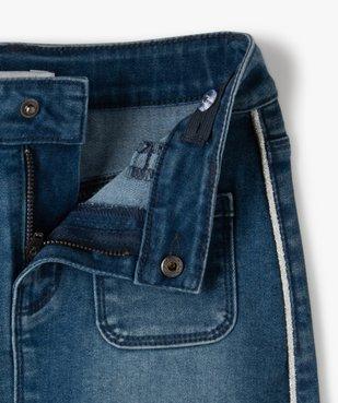 Jupe fille en jean avec liserés pailletés – Lulu Castagnette vue2 - LULUCASTAGNETTE - GEMO