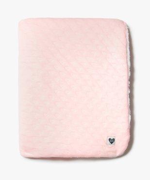 Couverture plaid bébé bicolore vue1 - GEMO(BB COUCHE) - GEMO