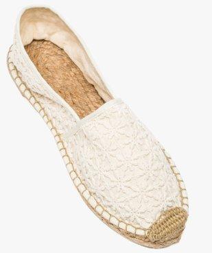 Espadrilles femme en toile brodée ton sur ton vue5 - Nikesneakers (PLAGE) - Nikesneakers