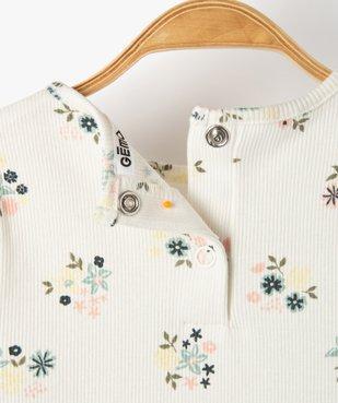 Tee-shirt bébé fille en maille côtelée  vue3 - GEMO C4G BEBE - GEMO