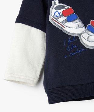 Sweat bébé garçon à capuche effet 2 en 1 – Lulu Castagnette vue2 - LULUCASTAGNETTE - Nikesneakers