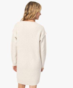 Robe femme en maille torsadée vue4 - GEMO(FEMME PAP) - GEMO