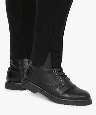 Pantalon femme avec bas zippé vue2 - GEMO (G TAILLE) - GEMO