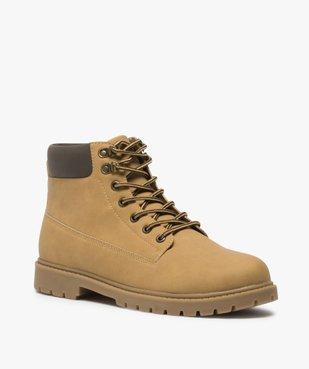 Boots homme à semelle crantée et lacets - Les Supaires à col contrastant et lacets bicolores vue2 - GEMO (CASUAL) - GEMO