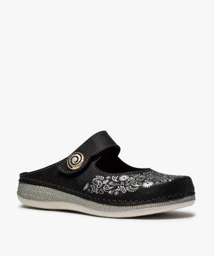 Sabots femme confort à bride scratch et motif floral vue2 - Nikesneakers (CONFORT) - Nikesneakers