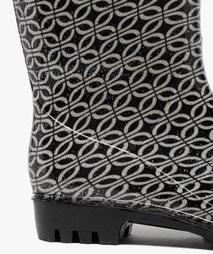 Bottes de pluie femme à paillettes et imprimé fantaisie vue6 - GEMO (EQUIPT) - GEMO