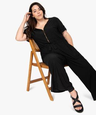 Combinaison pantalon femme ouverture zippée vue1 - GEMO (G TAILLE) - GEMO