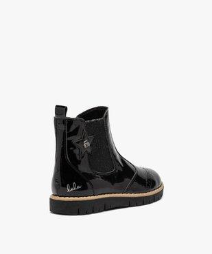 Boots fille chelsea vernies et zippées – LuluCastagnette vue4 - LULU CASTAGNETT - GEMO