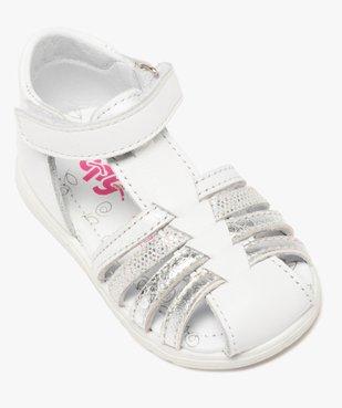 Sandales bébé fille en cuir avec brides métallisées - Bopy vue5 - BOPY - GEMO