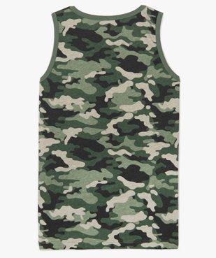 Débardeur garçon en coton motif camouflage vue2 - Nikesneakers (JUNIOR) - Nikesneakers