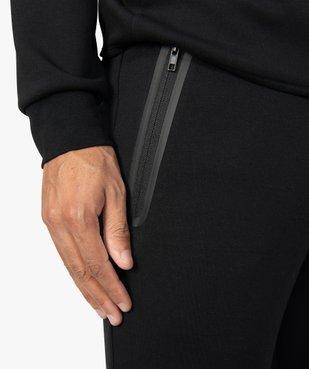Pantalon homme en maille à taille élastiquée vue2 - GEMO (HOMME) - GEMO