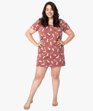 Chemise de nuit femme à manches courtes avec motif vue5 - Nikesneakers(HOMWR FEM) - Nikesneakers