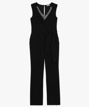 Combinaison pantalon femme avec décolleté en strass vue4 - Nikesneakers(FEMME PAP) - Nikesneakers