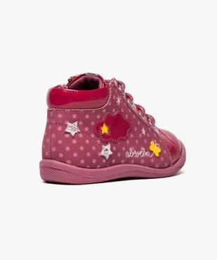 Chaussures montantes en cuir et cuir verni - Absorba vue4 - ABSORBA - GEMO