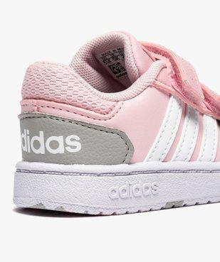 Baskets bébé fille multicolores à scratch – Adidas Hoops vue6 - ADIDAS - Nikesneakers