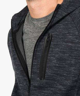 Sweat homme zippé à capuche  vue2 - GEMO (HOMME) - GEMO