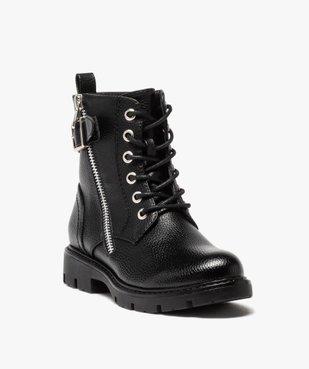 Boots fille à lacets style rock fermeture zippée vue2 - GEMO (ENFANT) - GEMO