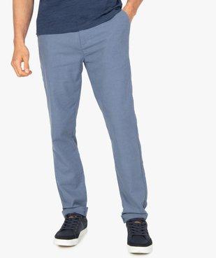 Pantalon homme coupe chino en lin et coton vue1 - GEMO (HOMME) - GEMO