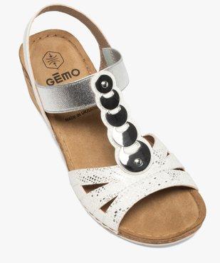Sandales femme à enfiler avec talon compensé vue5 - GEMO(URBAIN) - GEMO