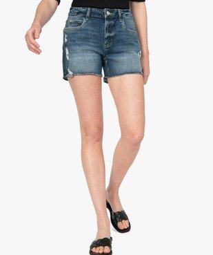 Short femme en jean aspect usé vue1 - GEMO(FEMME PAP) - GEMO