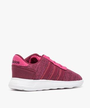 Basket fille multi-matière et lacets élastiques - Adidas vue4 - ADIDAS - GEMO