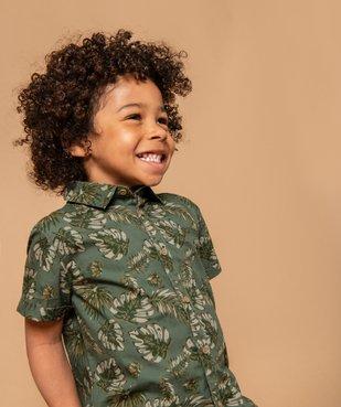 Chemise garçon à motifs tropicaux et manches courtes vue1 - GEMO (ENFANT) - GEMO