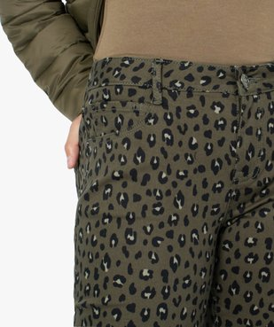 Pantalon femme coupe slim à motifs léopard vue2 - GEMO(FEMME PAP) - GEMO