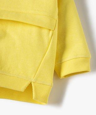 Sweat bébé garçon à capuche avec coutures asymétriques vue2 - Nikesneakers C4G BEBE - Nikesneakers