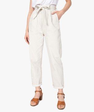 Pantalon femme taille haute - Lulu Castagnette vue1 - GEMO(FEMME PAP) - GEMO