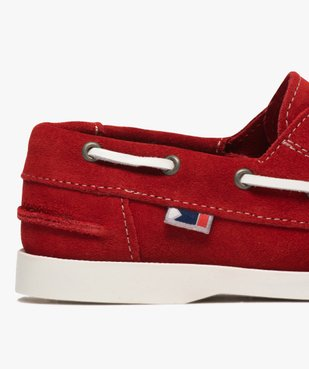 Chaussures bateau garçon dessus cuir à scratch vue6 - GEMO (ENFANT) - GEMO